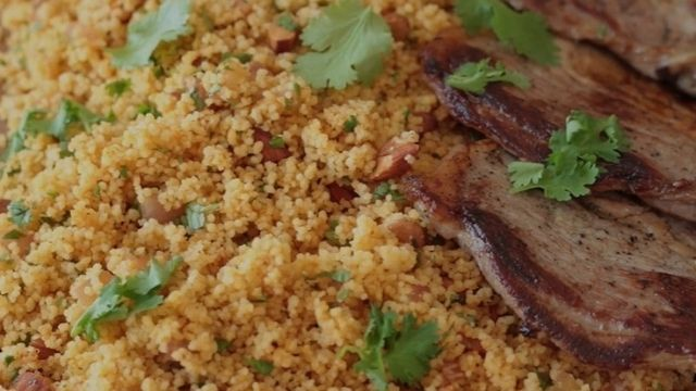 Moroccan Spicy Lamb Breast With Couscous Recipe