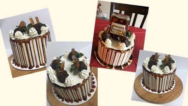 Chocolate Hennessy Strawberry Cake Recipe